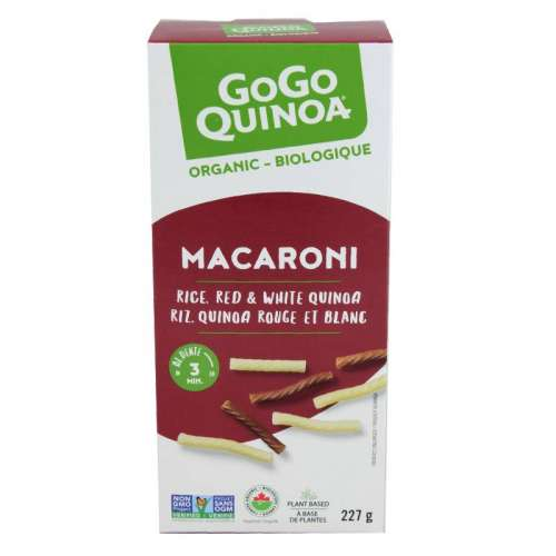 Product picture- Rice, red and white quinoa macaroni