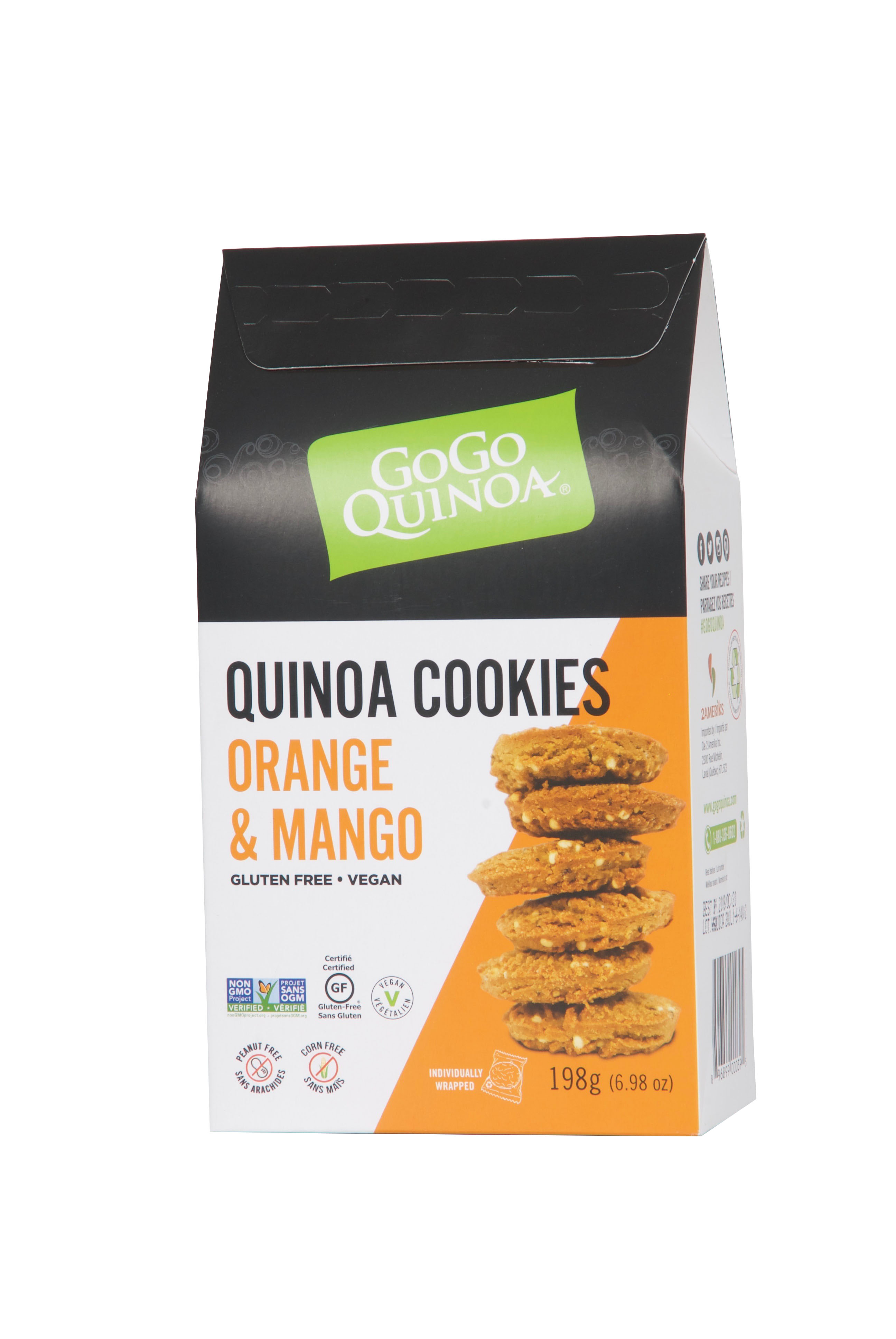 Quinoa cookies orange mango 2